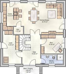 SmartHome Paket M Grundriss: Erdgeschoss.