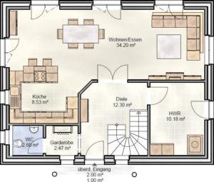 SmartHome Paket S Grundriss: Erdgeschoss.