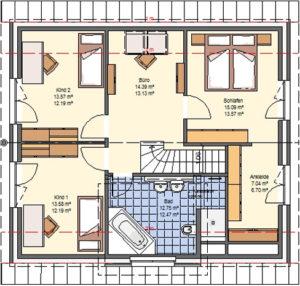 Paket L Grundriss: Obergeschoss